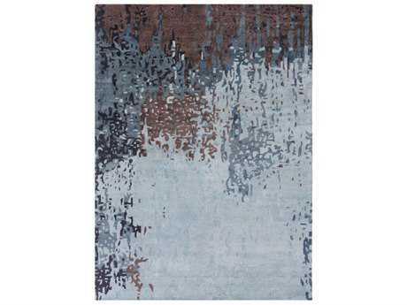Surya Serenade Rectangular Denim, Medium Gray & Dark Purple Area Rug