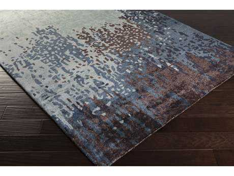 Surya Serenade Rectangular Denim, Medium Gray & Dark Purple Area Rug