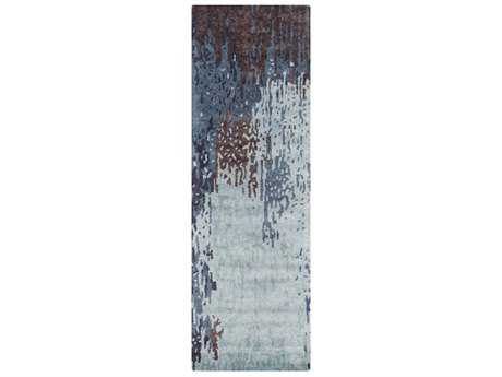 Surya Serenade 2'6'' x 8' Rectangular Denim, Medium Gray & Dark Purple Runner Rug