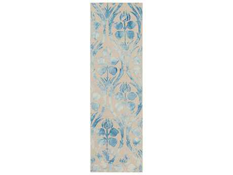 Surya Serafina 2'6'' x 8' Rectangular Sky Blue Runner Rug