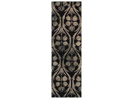 Surya Serafina 2'6'' x 8' Rectangular Black Runner Rug