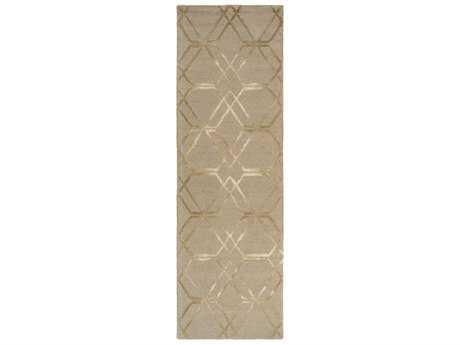 Surya Serafina 2'6'' x 8' Rectangular Khaki & Cream Runner Rug