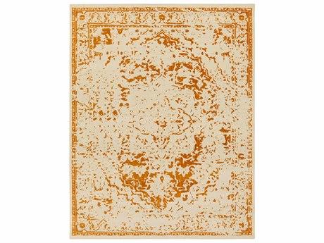 Surya Stretto Rectangular Burnt Orange & Cream Area Rug