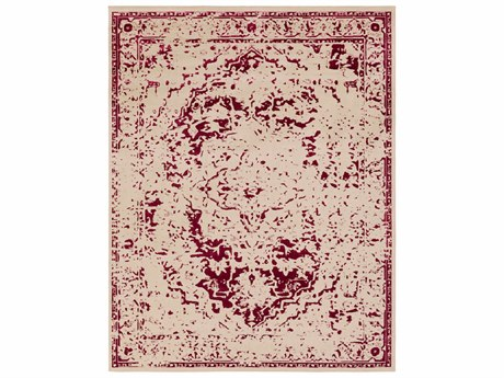 Surya Stretto Rectangular Bright Pink & Cream Area Rug