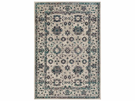 Surya Stretto Rectangular Medium Gray, Black & Taupe Area Rug