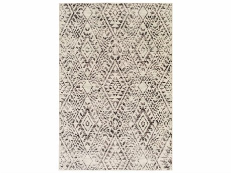 Surya Stretto Rectangular Taupe, Light Gray & Medium Gray Area Rug