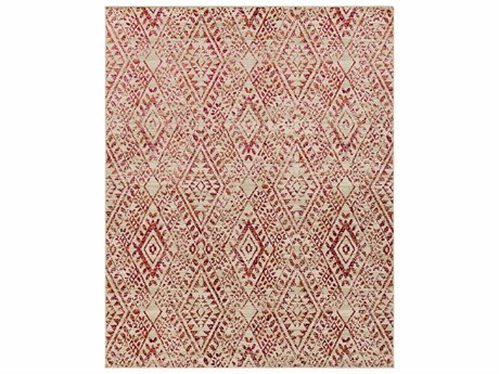 Surya Stretto Rectangular Medium Gray, Bright Pink & Burnt Orange Area Rug