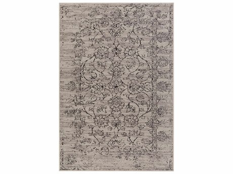 Surya Stretto Rectangular Medium Gray, Black & Light Gray Area Rug