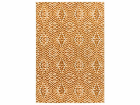 Surya Stretto Rectangular Burnt Orange & Cream Area Rug