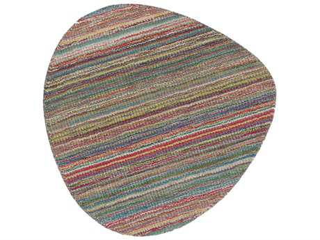 Surya Streak Bright Red, Grass Green & Lime Area Rug