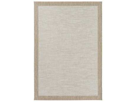 Surya Santa Cruz Rectangular Sky Blue, White & Taupe Area Rug