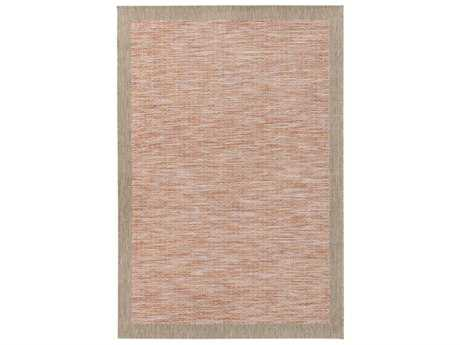 Surya Santa Cruz Rectangular Burnt Orange, Dark Red & White Area Rug