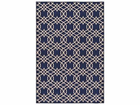 Surya Sonya Rectangular Dark Blue, Navy & Khaki Area Rug