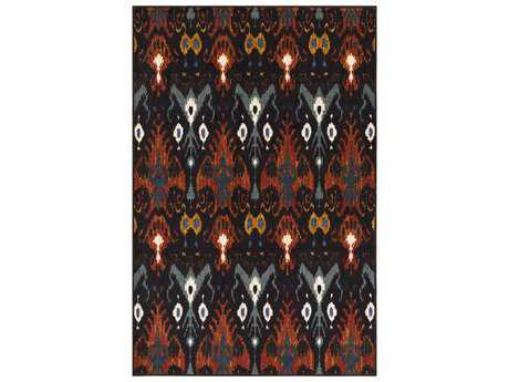 Surya Sonya Rectangular Dark Brown, Navy & Burnt Orange Area Rug