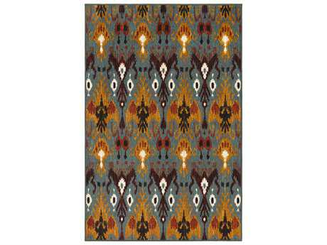 Surya Sonya Rectangular Aqua, Burnt Orange & Saffron Area Rug