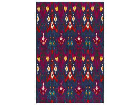 Surya Sonya Rectangular Dark Blue, Navy & Bright Orange Area Rug