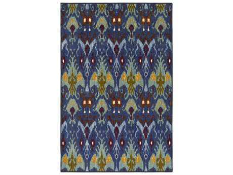 Surya Sonya Rectangular Dark Blue, Medium Gray & Denim Area Rug