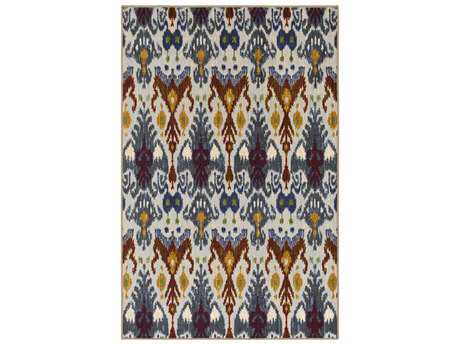 Surya Sonya Rectangular Khaki, Pale Blue & Medium Gray Area Rug
