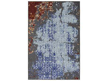 Surya Sonya Rectangular Pale Blue, Medium Gray & Denim Area Rug