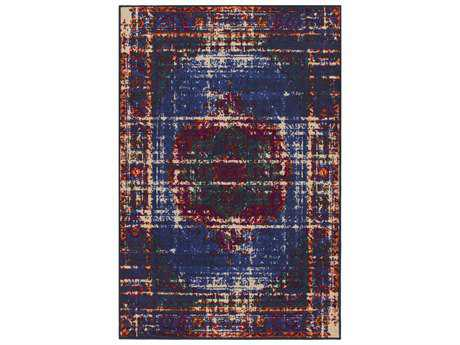 Surya Sonya Rectangular Dark Blue, Navy & Beige Area Rug