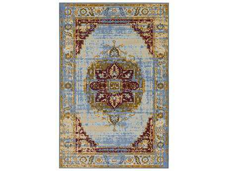 Surya Sonya Rectangular Beige, Pale Blue & Denim Area Rug
