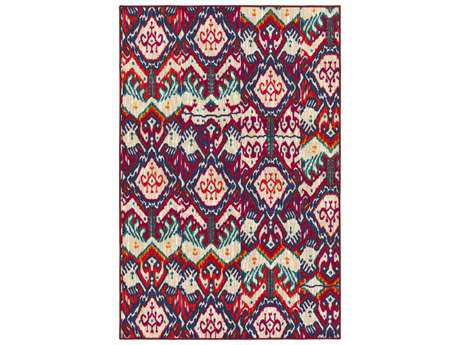 Surya Sonya Rectangular Khaki, Beige & Bright Orange Area Rug