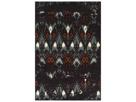 Surya Sonya Rectangular Navy, Dark Brown & Aqua Area Rug