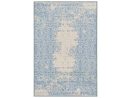 Surya Sonya Rectangular Khaki, Pale Blue & Denim Area Rug