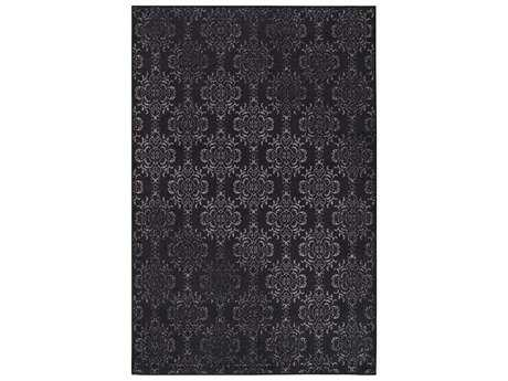 Surya Sonya Rectangular Black & Medium Gray Area Rug