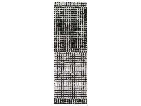 Surya Theory 2'6'' x 8' Rectangular Black & Cream Runner Rug