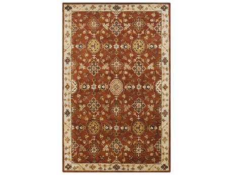 Surya Tinley Rectangular Burgundy Area Rug