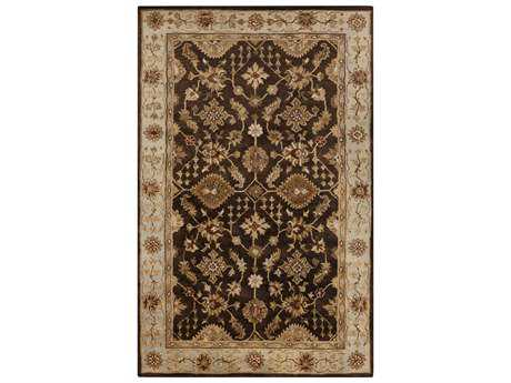 Surya Tinley Rectangular Chocolate Area Rug