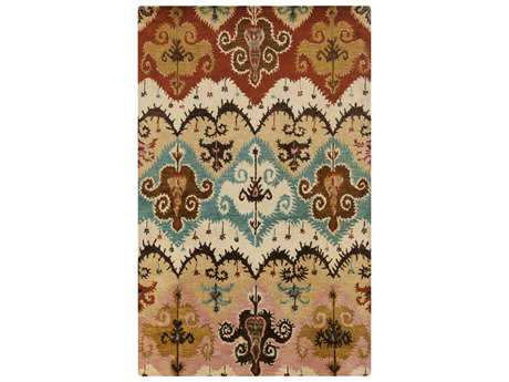 Surya Tinley Rectangular Rust Area Rug