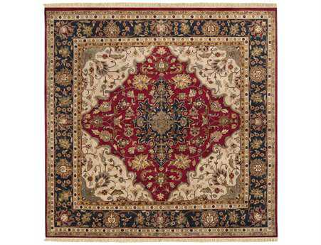 Surya Taj Mahal 8' Square Red Area Rug