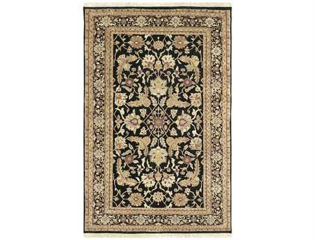 Surya Taj Mahal Rectangular Black Area Rug