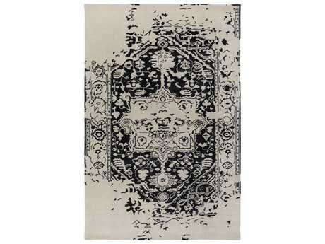 Surya Temple Rectangular Black Area Rug