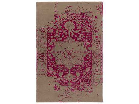 Surya Temple Rectangular Hot Pink Area Rug