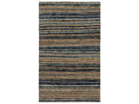 Surya Trinidad Rectangular Medium Gray, Charcoal & Dark Brown Area Rug