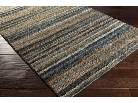 Surya Trinidad Rectangular Medium Gray, Charcoal & Dark Brown Area Rug