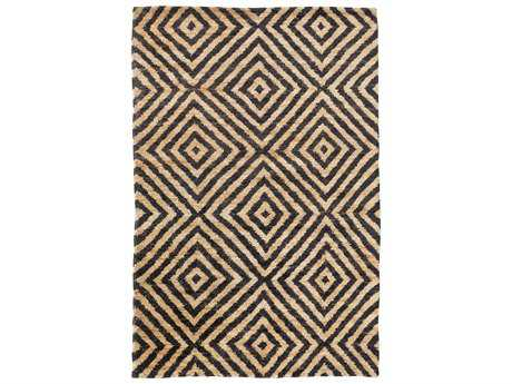 Surya Tangier Rectangular Black & Beige Area Rug