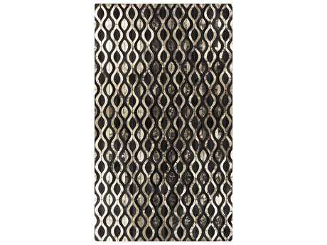 Surya Trail Rectangular Black Area Rug