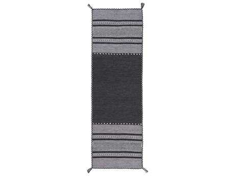 Surya Trenza 2'6'' x 8' Rectangular Charcoal Runner Rug