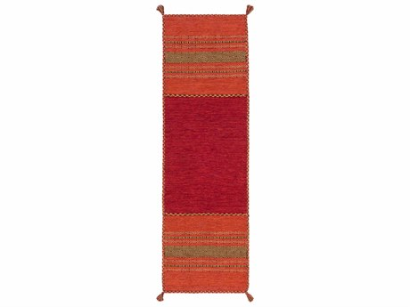Surya Trenza 2'6'' x 8' Rectangular Rust Runner Rug SYTRZ3002RUN