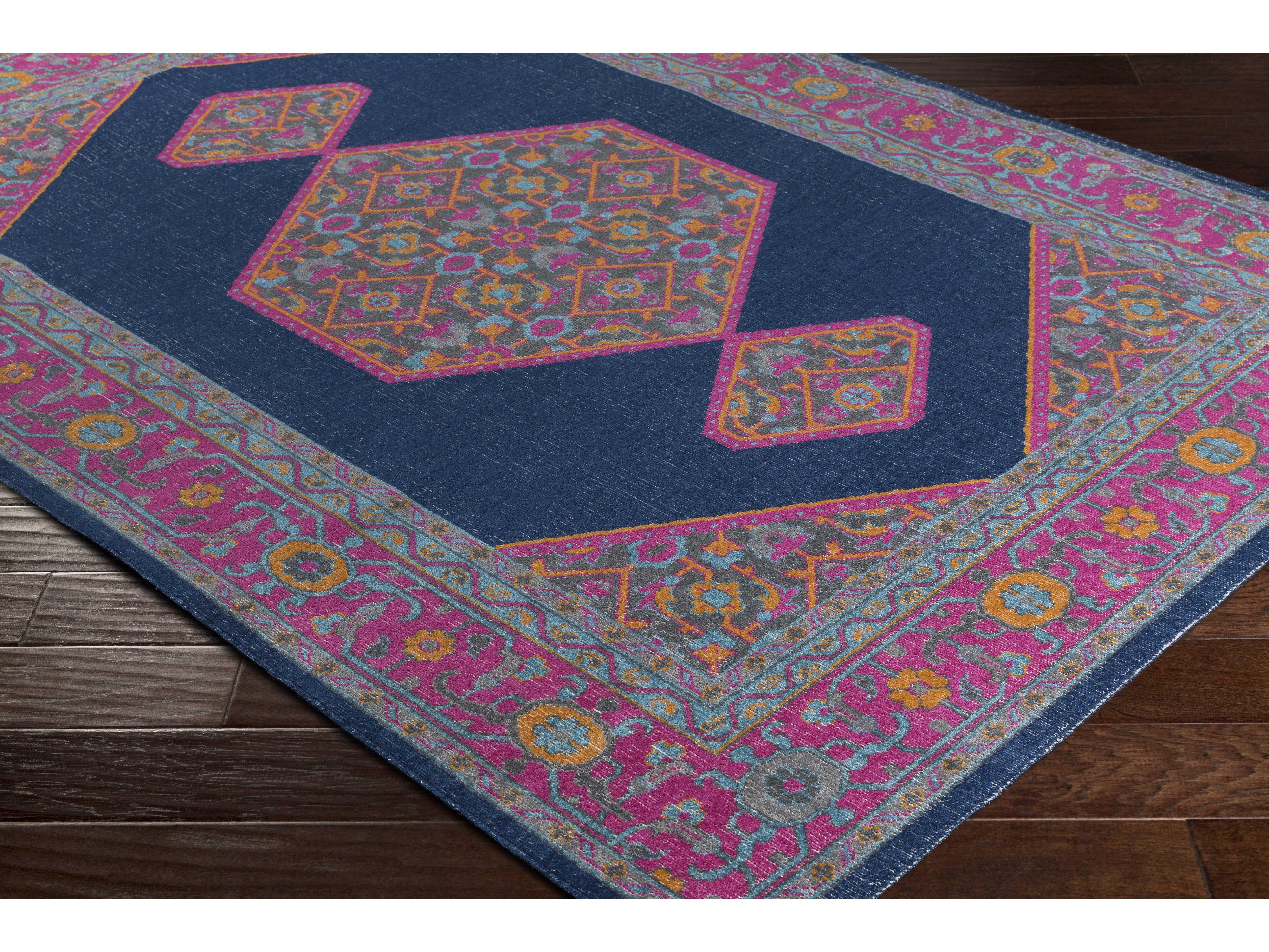 surya tessera rectangular navy pink burnt orange area rug sytse1002rec. Black Bedroom Furniture Sets. Home Design Ideas