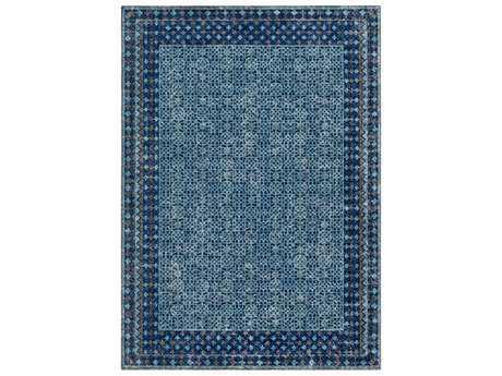 Surya Tessera Rectangular Aqua, Blue & Grey Area Rug