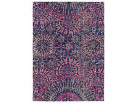 Surya Tessera Rectangular Purple, Pink & Dark Purple Area Rug