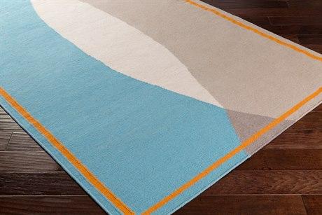 Surya Taurus One Rectangular Taupe, Bright Orange & Blush Area Rug