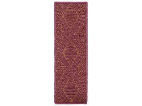 Surya Tulemola 2'6'' x 8' Rectangular Eggplant Runner Rug