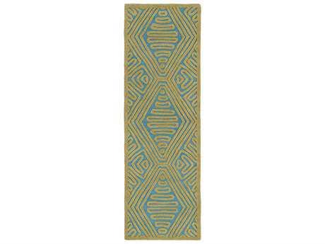 Surya Tulemola 2'6'' x 8' Rectangular Olive Runner Rug