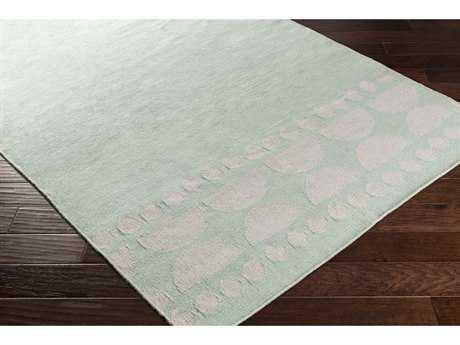 Surya Textila Rectangular Sea Foam & Light Gray Area Rug